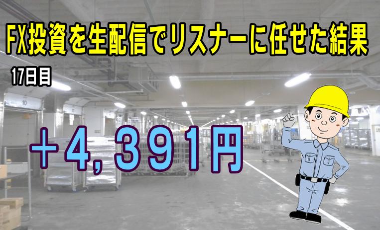 【FX収支】なんとか勝ったが… +4391円【2017年11月20日】