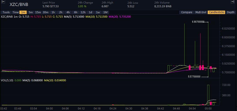 【仮想通貨】海外仕手グループ「Whales – Pump Group」の仕手コイン「XZC/BNB」